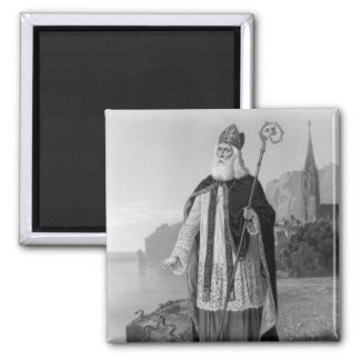 Antique Saint Patrick, the Snakes and Bible Magnets