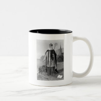 Antique Saint Patrick, the Snakes and Bible Two-Tone Coffee Mug