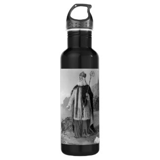 Antique Saint Patrick, the Snakes and Bible 24oz Water Bottle