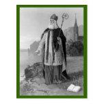 Antique Saint Patrick, the Snakes and Bible Postcard