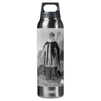 Antique Saint Patrick, the Snakes and Bible 16 Oz Insulated SIGG Thermos Water Bottle