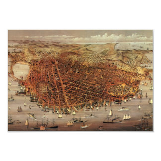 Antique San Francisco City Map, Change of Address Card