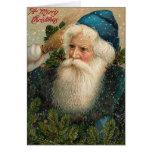 Antique Santa Christmas Card