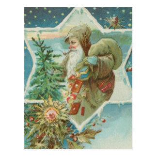 Antique Santa Claus Star Postcard