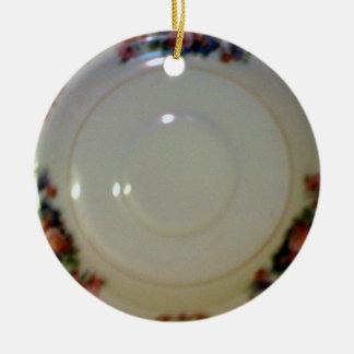 Antique Saucer Ceramic Ornament
