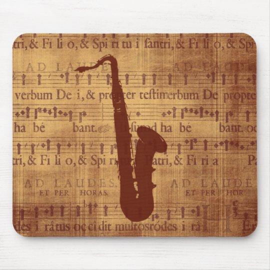 Antique Saxophone Mouse Pad