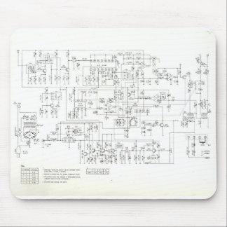 Antique Schematic Mouse Pad