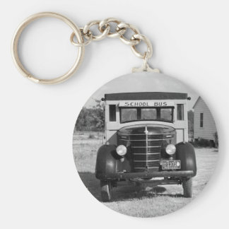 Antique School Bus, Greensboro, Georgia, 1941 Keychain