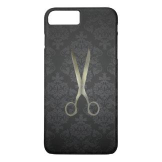 Antique Scissor Black Damask iPhone 7 Plus Case