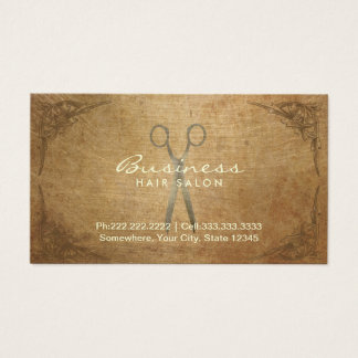 Antique Scissor Framed Hair Salon Appointment Business Card