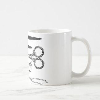 Antique Scissors Vignette Coffee Mugs