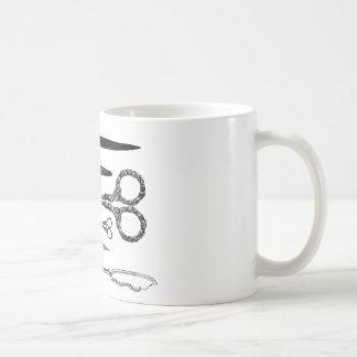 Antique Scissors Vignette Mug