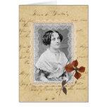 Antique Script & Lace Custom Card