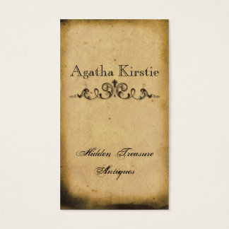 Antique Scroll Business Card