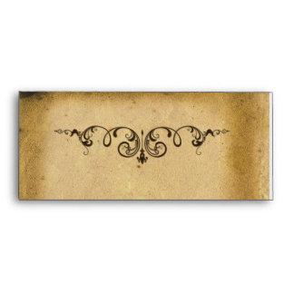 Antique Scroll Envelope