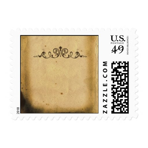 Antique Scroll Postage