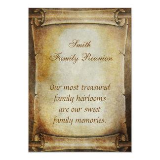 Antique Scroll Reunion Anouncement Card