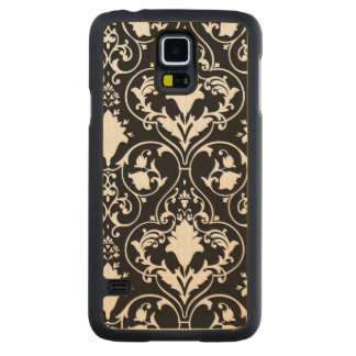 Antique scroll wallpaper 2 carved® maple galaxy s5 slim case