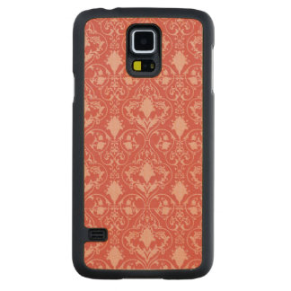 Antique scroll wallpaper carved® maple galaxy s5 slim case