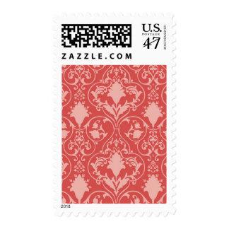 Antique scroll wallpaper postage stamp