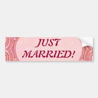 Antique Scroll Wedding Car Bumper Sticker