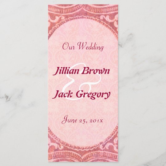 antique scroll wedding program zazzle com