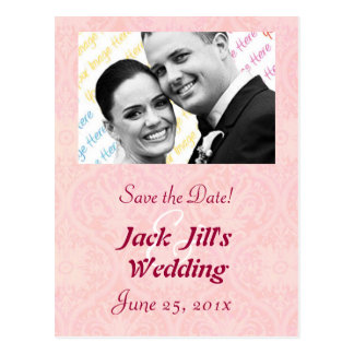 """Antique Scroll Wedding """"Save the Date"""" Postcard"""