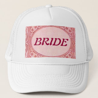 Antique Scroll Wedding Trucker Hat