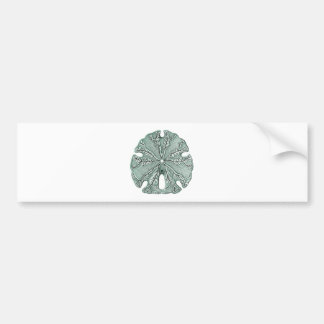 Antique Sea Sand Dollar Illustration Bumper Sticker