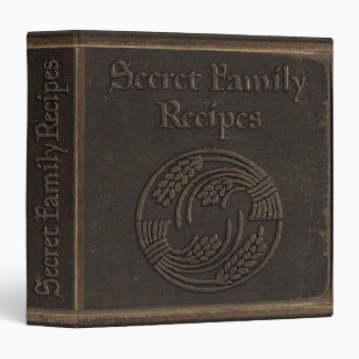 Antique Secret Family Recipes 3 Ring Binder