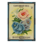 Antique Seed Packet: Canterbury Bells Greeting Card