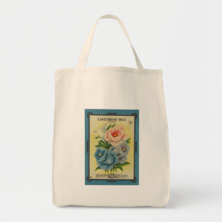 Antique Seed Packet Canterbury Bells Tote Bag