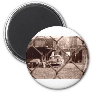 antique sepia tone car picture magnet