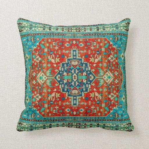 Antique Serapi carpets of Northwest Persia Pillows