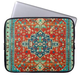 Antique Serapi Rug Motive Laptop Computer Sleeves