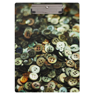 Antique Sewing Buttons Clipboards