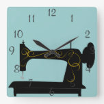 Antique Sewing Machine Wall Clock