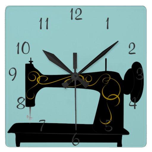Antique Sewing Machine Wall Clock   Zazzle