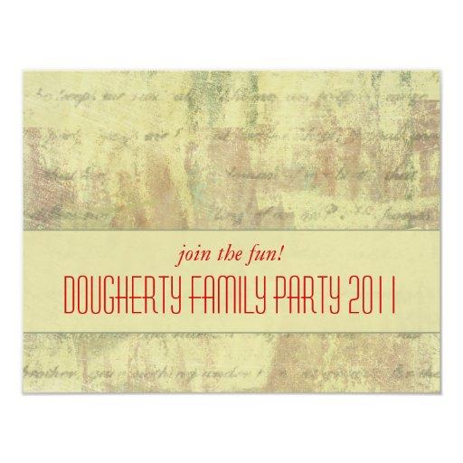 Antique Shabby Family Party Invitation