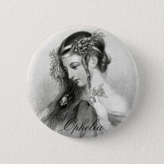 Antique Shakespeare Ophelia John Hayter Portrait Button