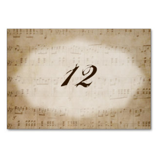 Antique Sheet Music 2 Table Number Placecards Table Card