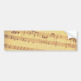 Antique Sheet Music Bumper Sticker