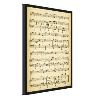 Antique Sheet Music Canvas Print