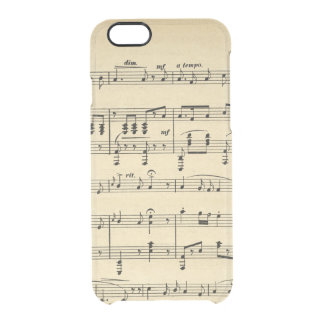 Antique Sheet Music Clear iPhone 6/6S Case