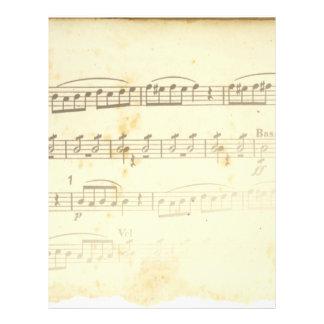 Antique Sheet Music Custom Flyer