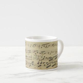 Antique Sheet Music Espresso Cup