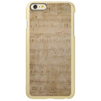 Antique Sheet Music Incipio Feather® Shine iPhone 6 Plus Case