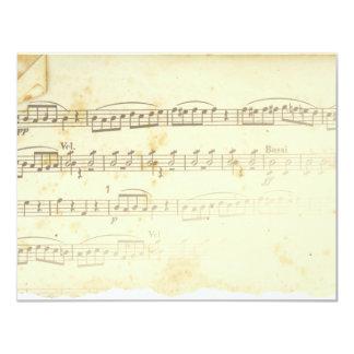 Antique Sheet Music Invitation
