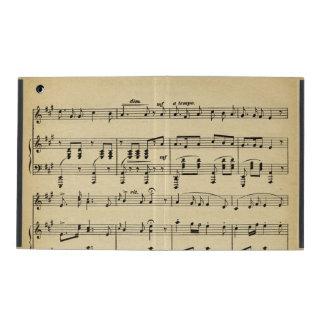 Antique Sheet Music iPad Folio Case
