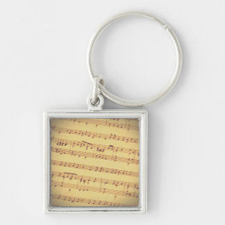 Antique Sheet Music Keychain